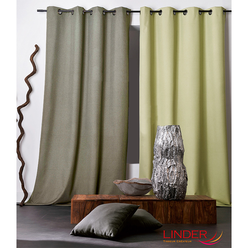 Tissu Occultant Chiné Oxford Taupe